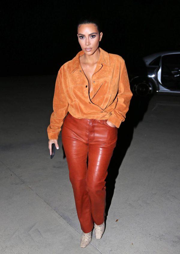 Kim Kardashian In leather and suede in Malibu 13