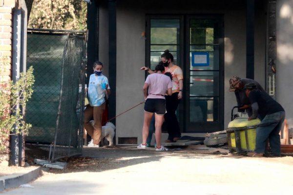 Kristen Bell Wearing a Vote T Shirt in Los Feliz 12