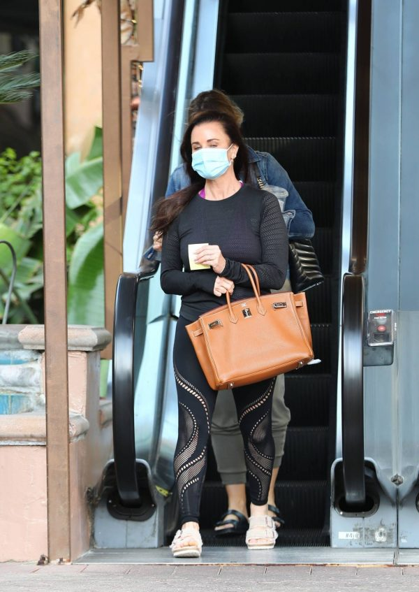 Kyle Richards Seen leaving a Nail Salon in Encino 13