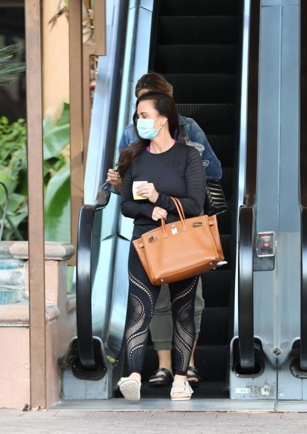 Kyle Richards Seen leaving a Nail Salon in Encino 23