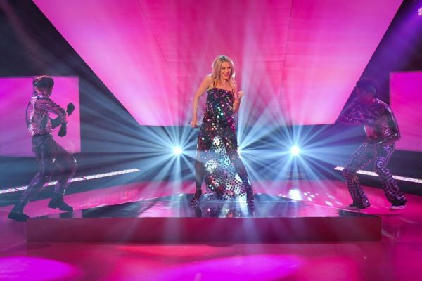 Kylie Minogue Performing at Graham Norton Show 02