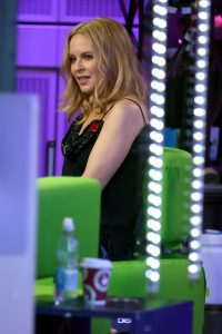 Kylie Minogue Pictured on The One Show in London 07