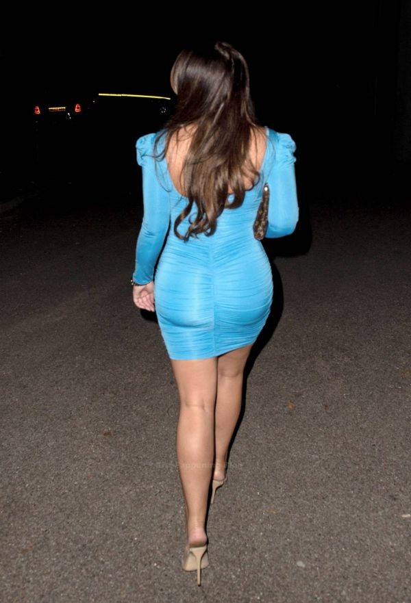 Lauren Goodger In tight dress leaving Roka restaurant in Canary Wharf 02