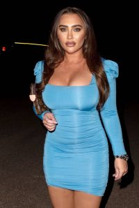 Lauren Goodger In tight dress leaving Roka restaurant in Canary Wharf 08