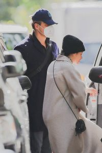 Lily Allen and David Harbour Seen getting in uber together in New York City 04