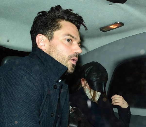 Lily James Hides from the cameras with Dominic Cooper in London 10