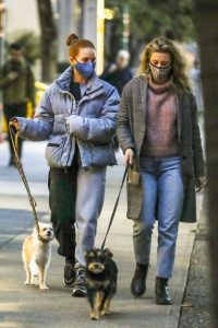 Madelaine Petsch Seen walking her dog in Vancouver 04