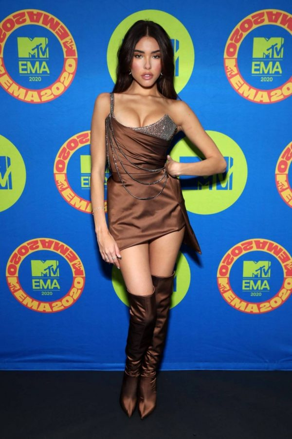 Madison Beer Possing at the 2020 MTV Europe Music Awards in LA 01