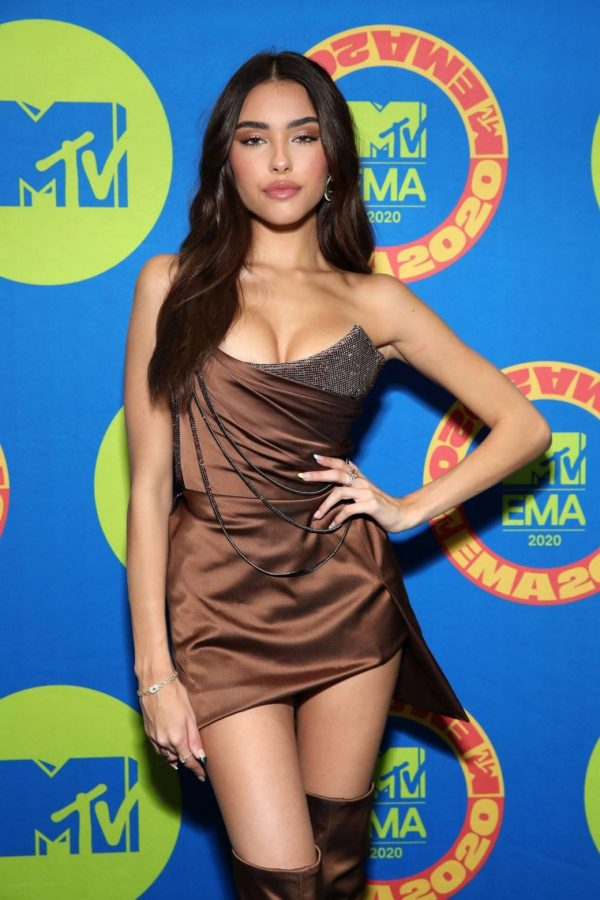 Madison Beer Possing at the 2020 MTV Europe Music Awards in LA 02
