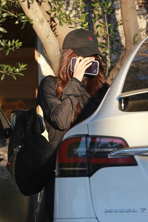Megan Fox Hides her face as she seen leaving a gym in West Hollywood 02
