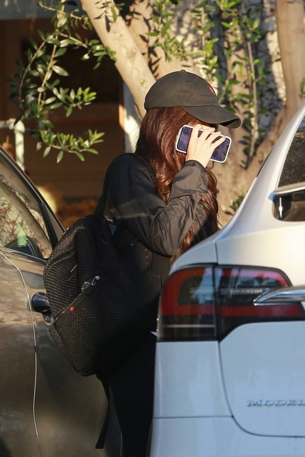 Megan Fox Hides her face as she seen leaving a gym in West Hollywood 15