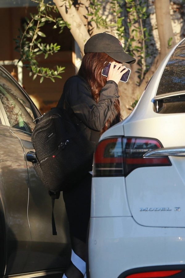 Megan Fox Hides her face as she seen leaving a gym in West Hollywood 16