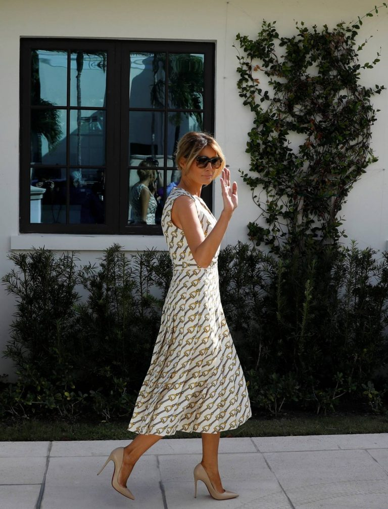 Melania Trump At the Morton and Barbara Mandel Recreation Center polling place in Palm Beach 08