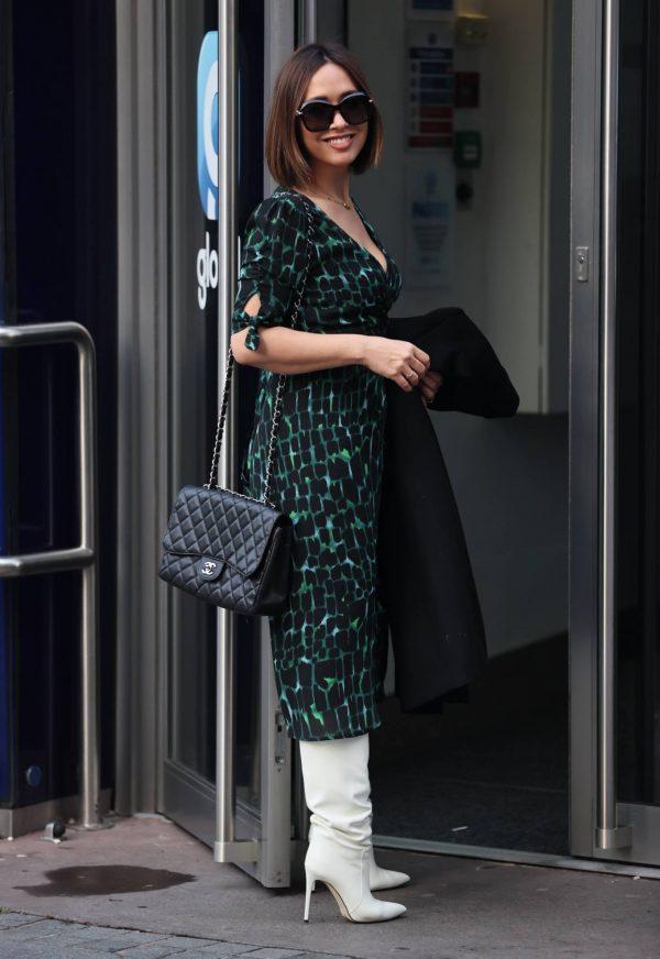 Myleene Klass Arriving at Smooth Radio in London 12