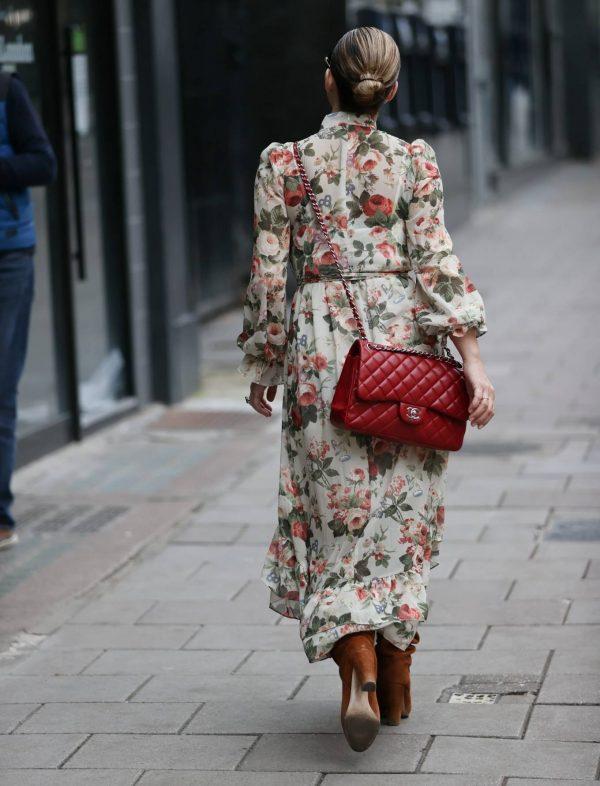 Myleene Klass In floral dress at Smooth radio in London 07