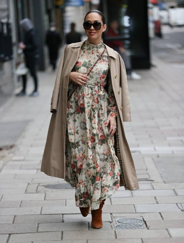 Myleene Klass In floral dress at Smooth radio in London 08