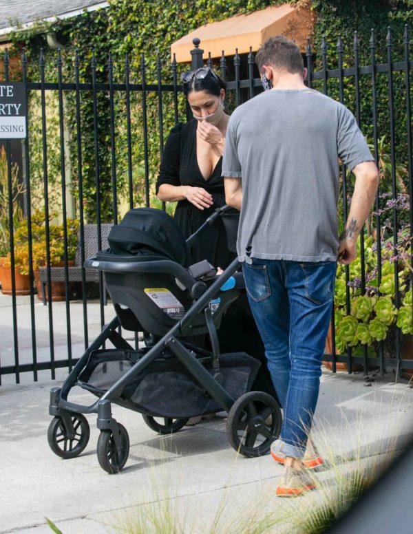 Nikki Bella Takes son Matteo out in Studio City 02