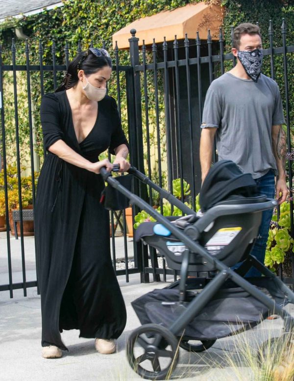 Nikki Bella Takes son Matteo out in Studio City 03