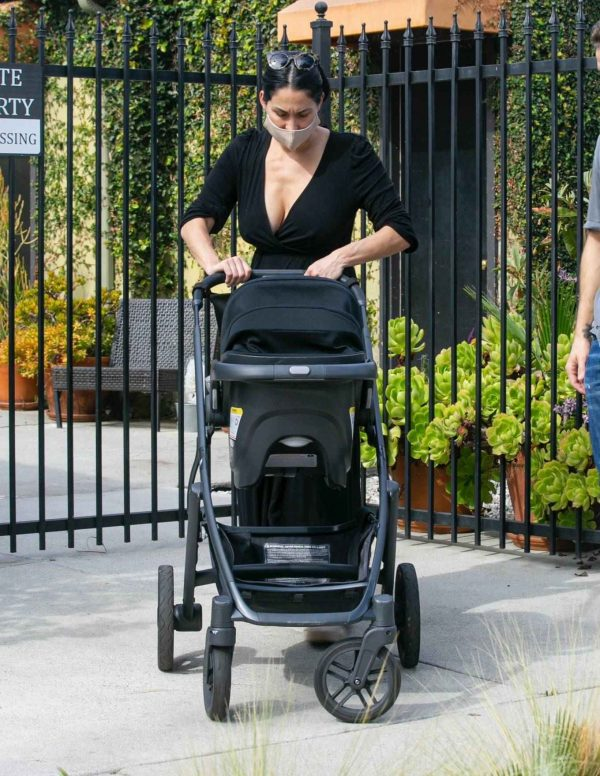 Nikki Bella Takes son Matteo out in Studio City 04