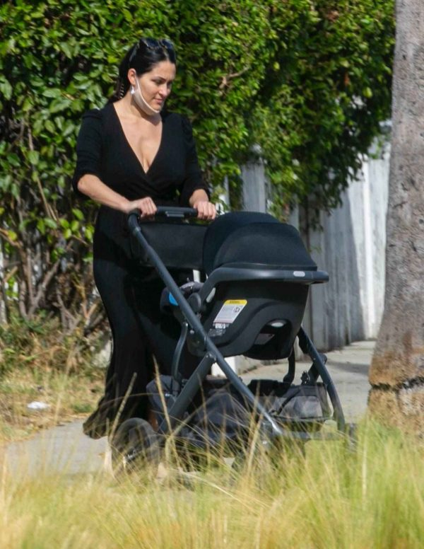 Nikki Bella Takes son Matteo out in Studio City 05