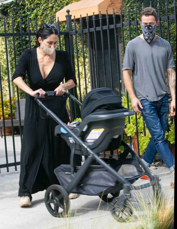 Nikki Bella Takes son Matteo out in Studio City 09