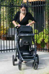 Nikki Bella Takes son Matteo out in Studio City 11