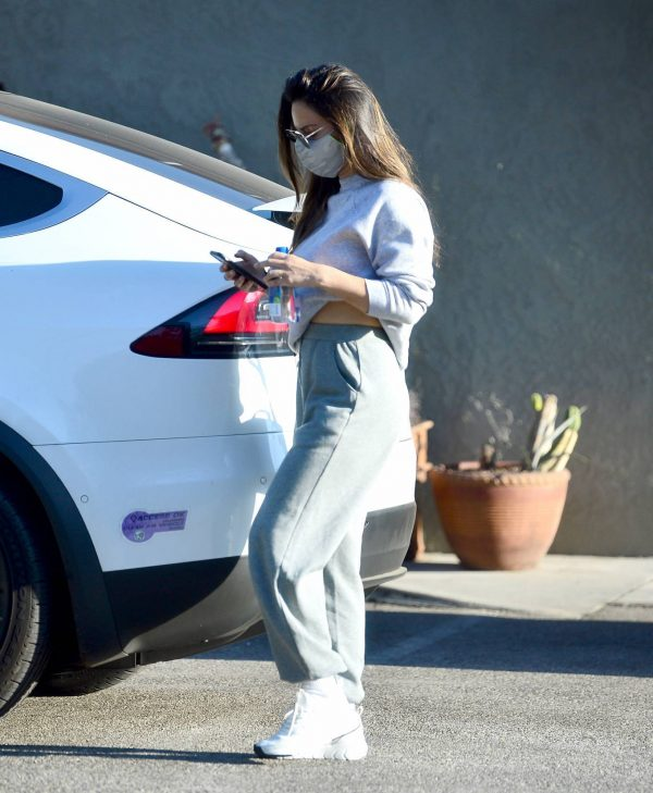 Olivia Munn Pictured while leaving a gym in Los Angeles 08