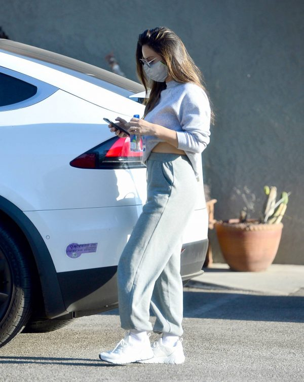 Olivia Munn Pictured while leaving a gym in Los Angeles 14