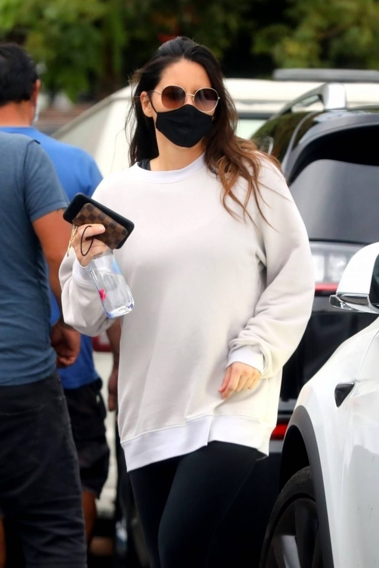 Olivia Munn Seen leaving a gym in LA 02