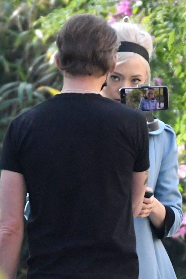 Pom Klementieff Making videos with Simon Pegg in Venice 13 1