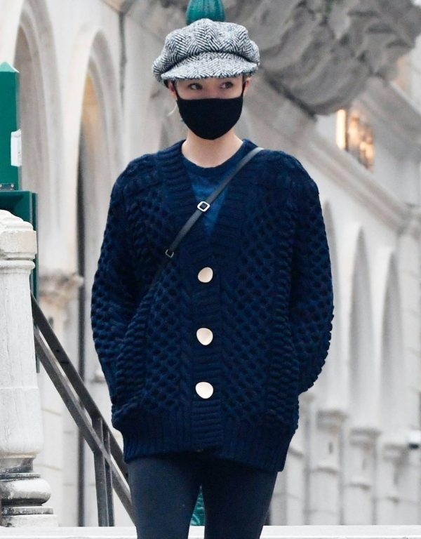 Pom Klementieff Seen after a night of filming for Mission Impossible 7 in Venicer 03