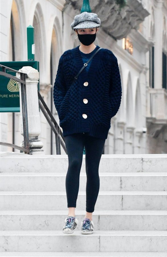 Pom Klementieff Seen after a night of filming for Mission Impossible 7 in Venicer 10