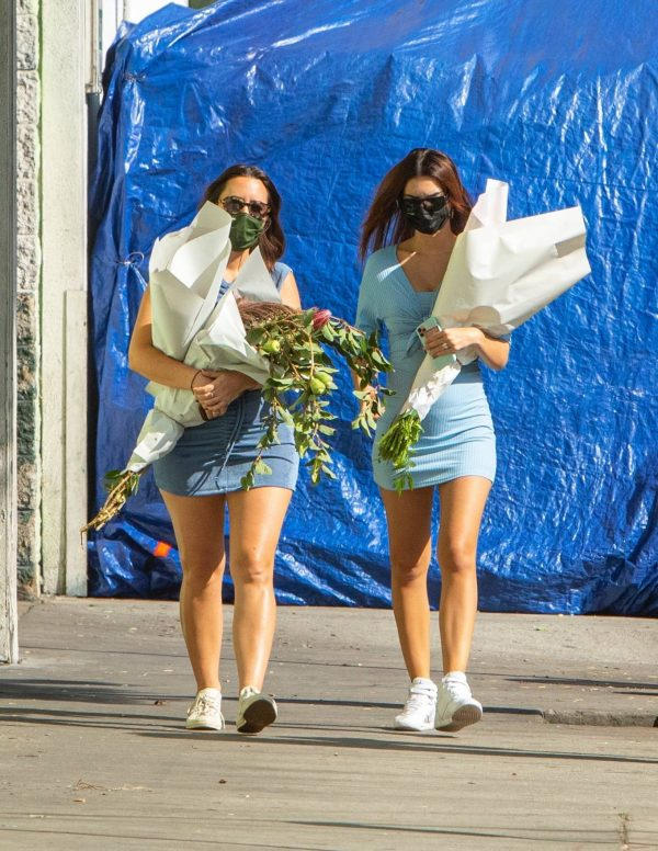 Pregnant Emily Ratajkowski Seen at a flower market in Los Angeles 15