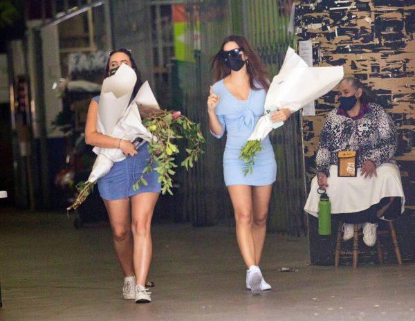 Pregnant Emily Ratajkowski Seen at a flower market in Los Angeles 23