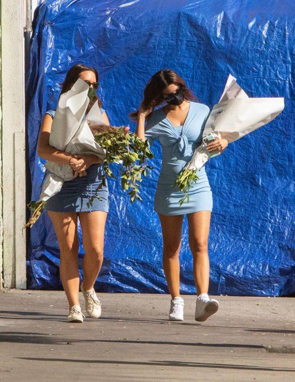 Pregnant Emily Ratajkowski Seen at a flower market in Los Angeles 27
