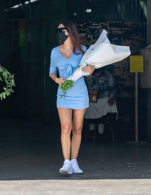Pregnant Emily Ratajkowski Seen at a flower market in Los Angeles 35