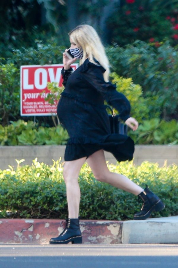 Pregnant Emma Roberts Seen while out in Los Angeles 08
