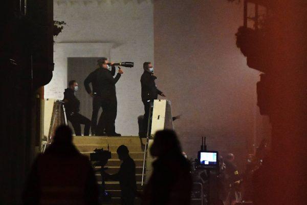 Rebecca Ferguson On the set of Mission Impossible 7 in Campo San Giacomo dell Orio Venice 01