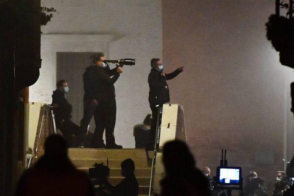 Rebecca Ferguson On the set of Mission Impossible 7 in Campo San Giacomo dell Orio Venice 03