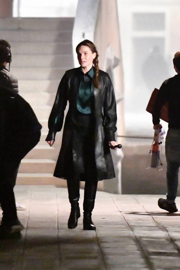 Rebecca Ferguson On the set of Mission Impossible 7 in Campo San Giacomo dell Orio Venice 04