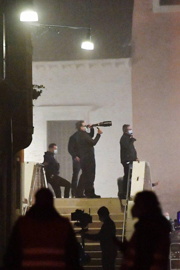 Rebecca Ferguson On the set of Mission Impossible 7 in Campo San Giacomo dell Orio Venice 09