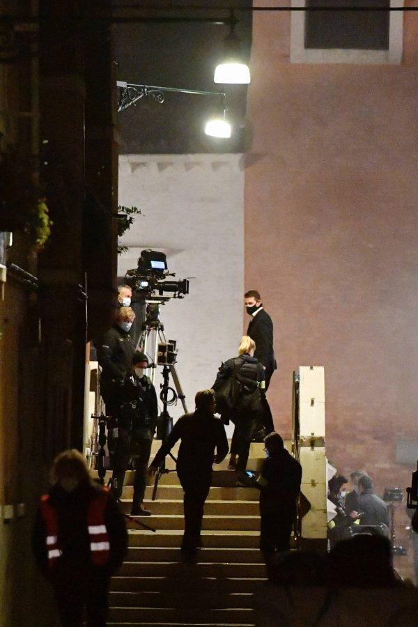 Rebecca Ferguson On the set of Mission Impossible 7 in Campo San Giacomo dell Orio Venice 13