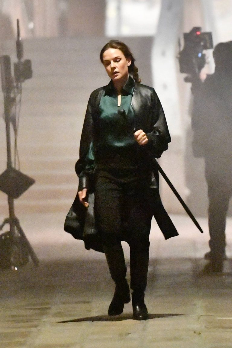 Rebecca Ferguson On the set of Mission Impossible 7 in Campo San Giacomo dell Orio Venice 16