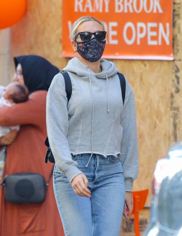 Scarlett Johansson Looks casual in denim on the street of NYC 02