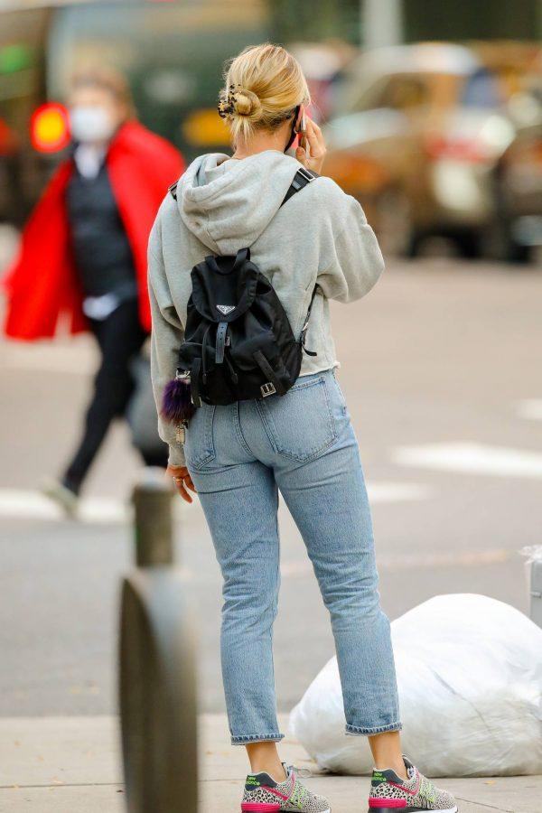 Scarlett Johansson Looks casual in denim on the street of NYC 04