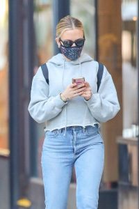 Scarlett Johansson Looks casual in denim on the street of NYC 05