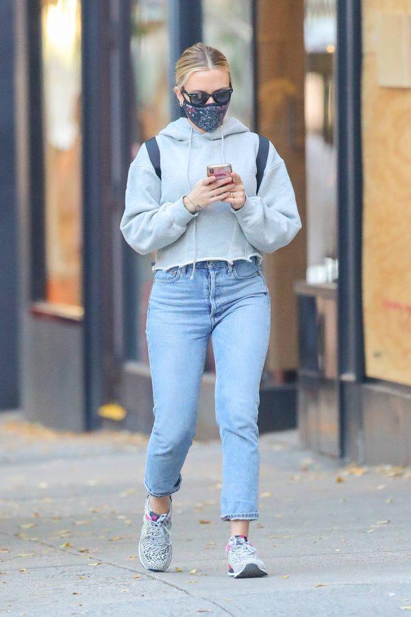 Scarlett Johansson Looks casual in denim on the street of NYC 09