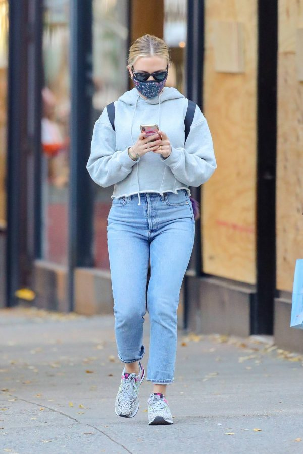 Scarlett Johansson Looks casual in denim on the street of NYC 11
