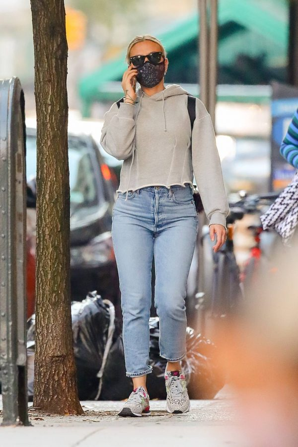 Scarlett Johansson Looks casual in denim on the street of NYC 22