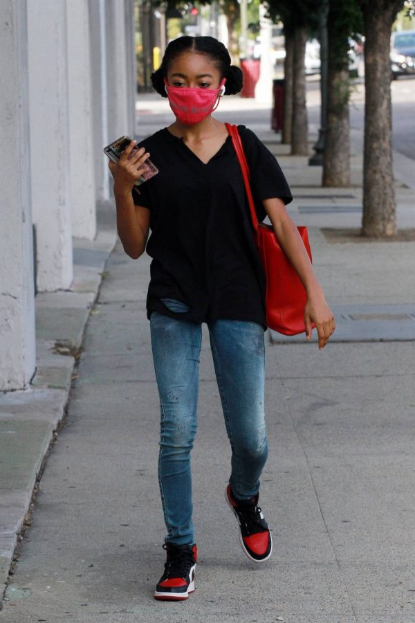 Skai Jackson Arriving for dance practice at the DWTS studio in Los Angeles 10